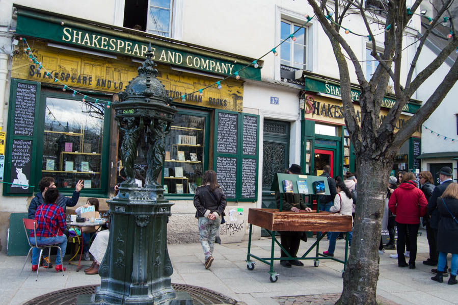 Paris Cafe Shakespeare and Co