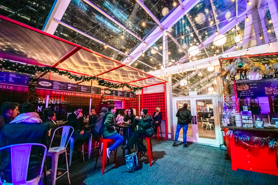 The Lodge Deck at Bryant Park Winter Market