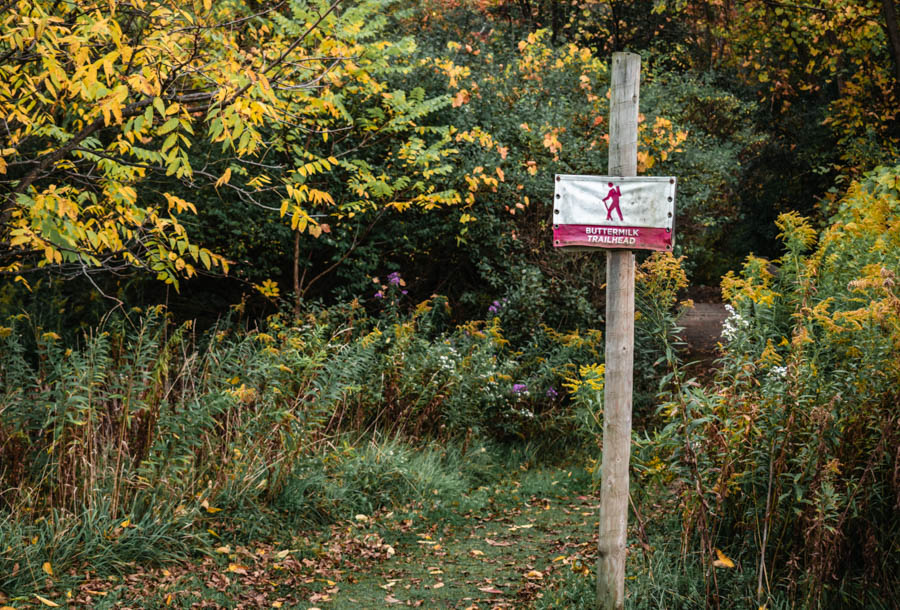 Trail sign at Firelight Camps