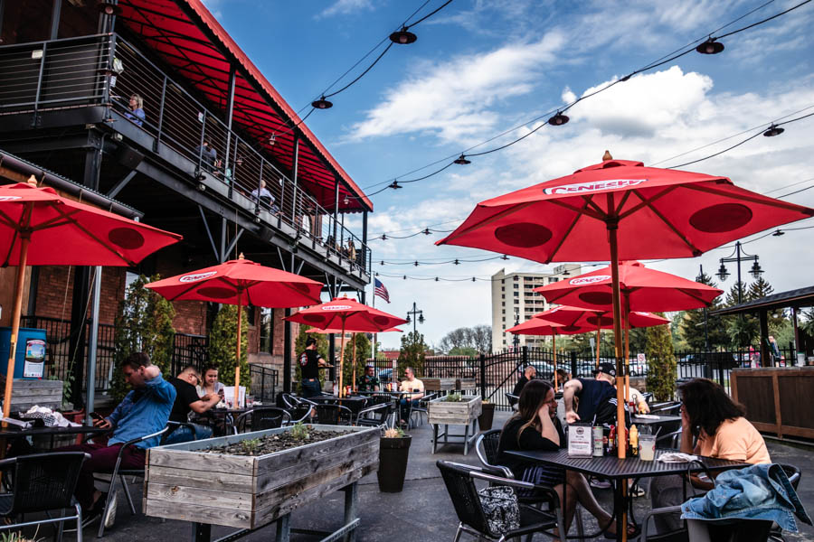 Patio at Genesee Brew House