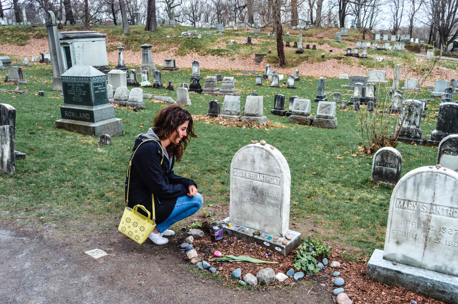 Susan B Anthony Grave at Mount Hope Cemetary