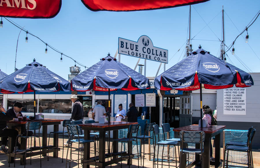 Patio at Blue Collar Lobster in Gloucester