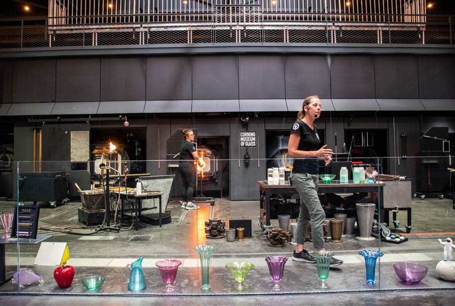 Corning Museum of Glass -Glass blowing demonstration