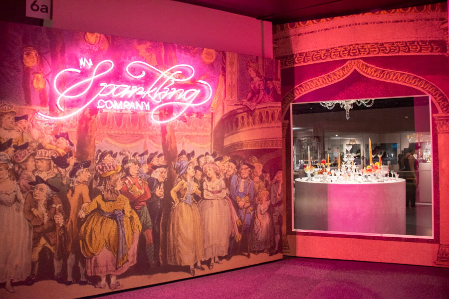 Corning Museum of Glass - In Sparkling Company display