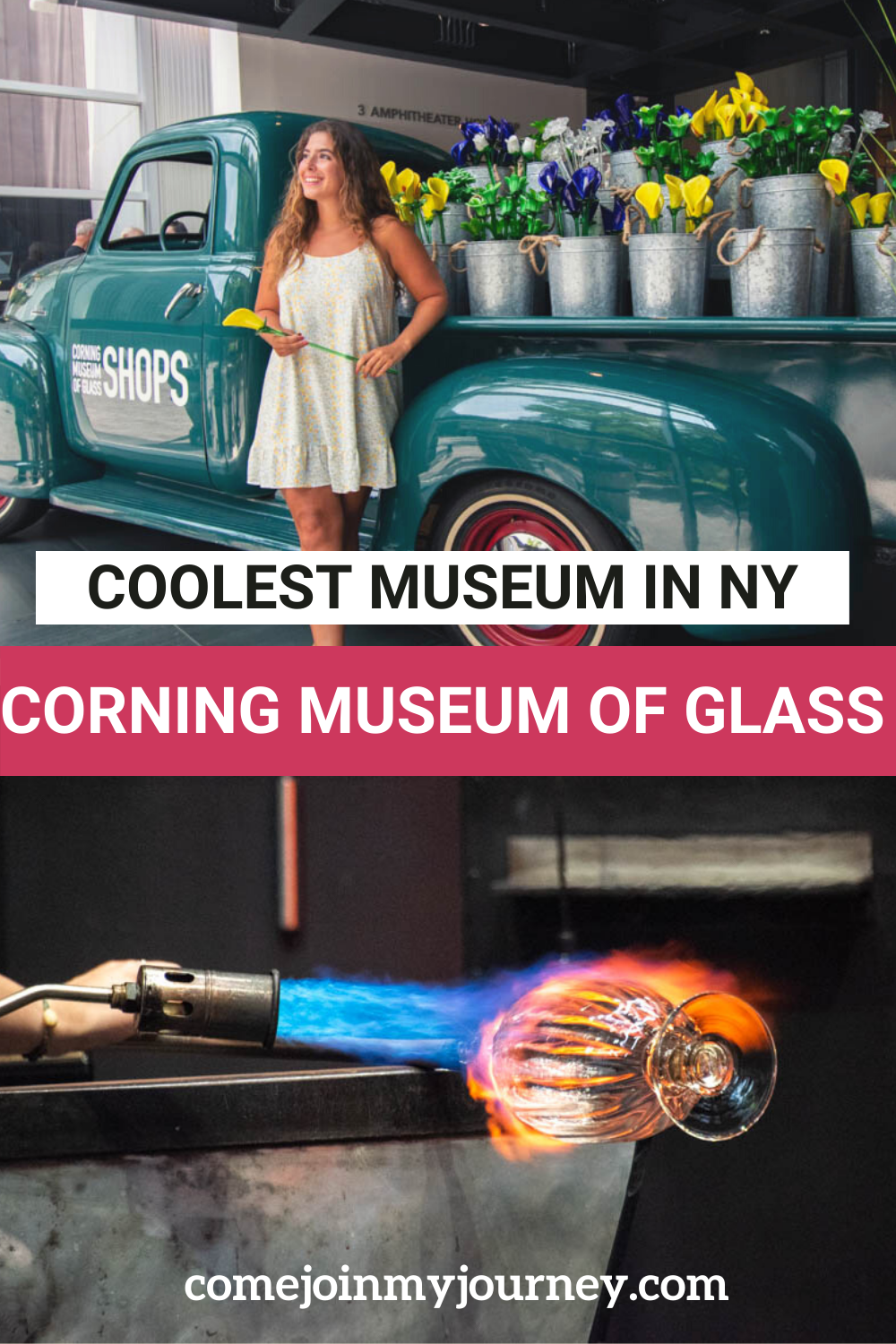 Corning Museum of Glass Exterior with girl