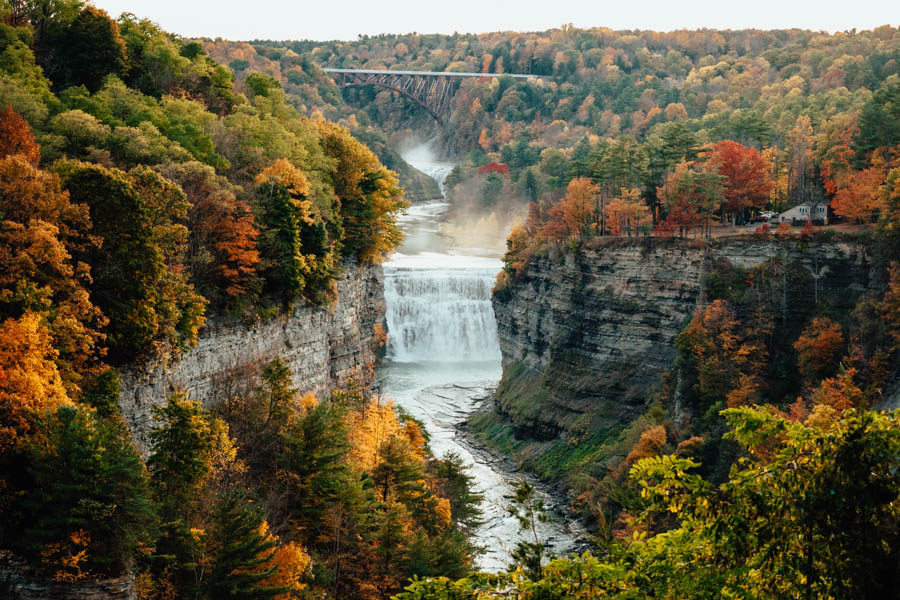 Inspiration Point Letchworth State Park Fall foliage